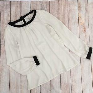 Ann Taylor Loft XXSP Petites dressy blouse top